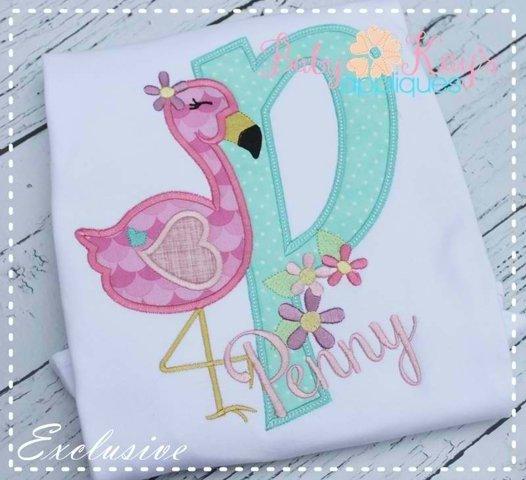 Flamingo Applique Alpha - A-Z - 4 Hoop Sizes!