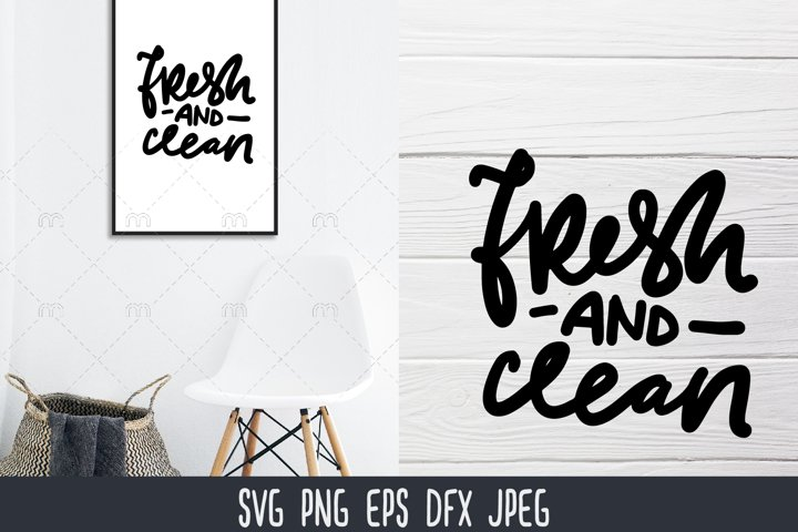 Laundry SVG | fresh and clean