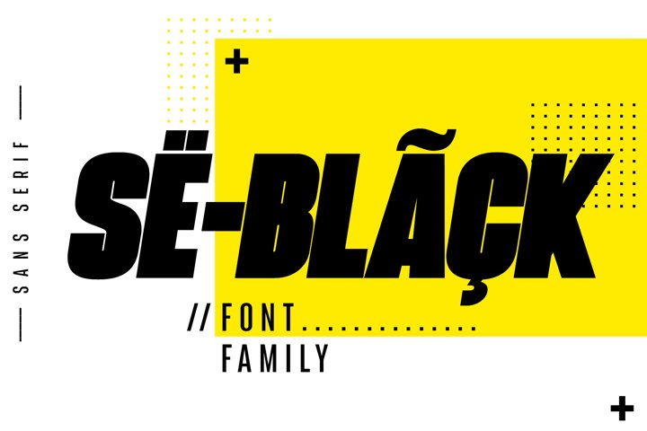 Seblack Fonts Family