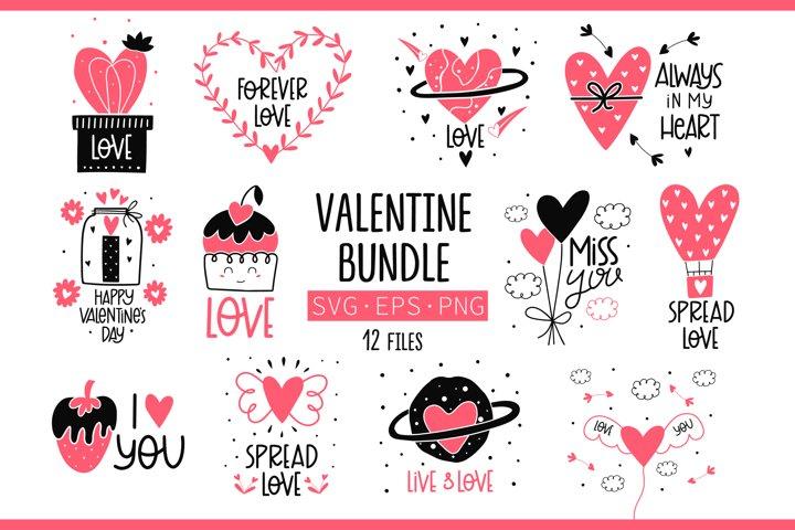 Valentine Day svg Bundle, Image Cut File