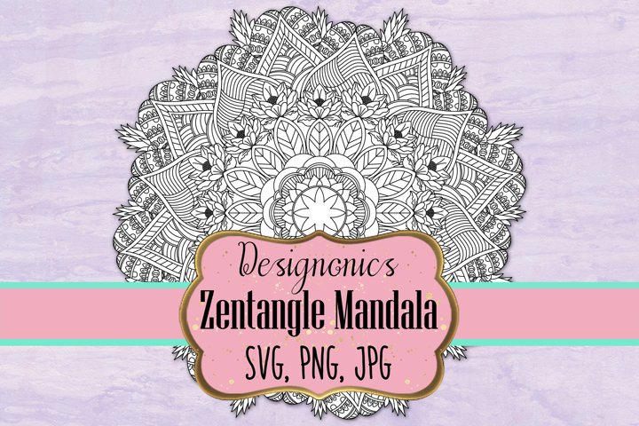 Zentangle Mandala 5 - SVG, PNG, JPG
