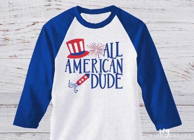 All American Dude, SVG, EPS, DXF, PNG, USA SVG