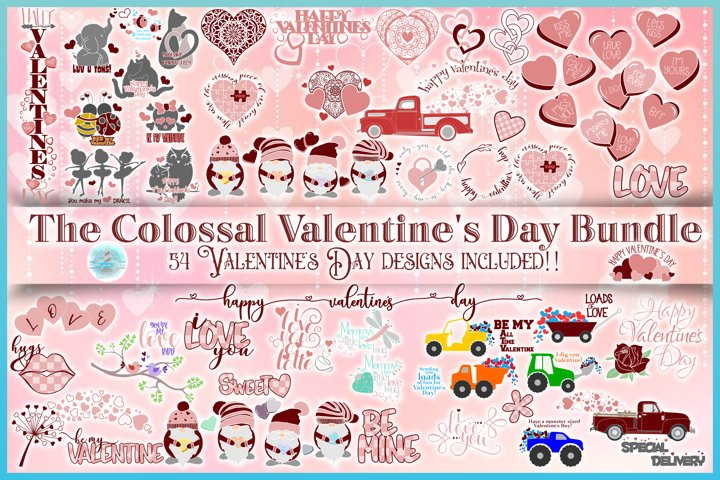 Valentines SVG | The Colossal Valentines Day SVG Bundle
