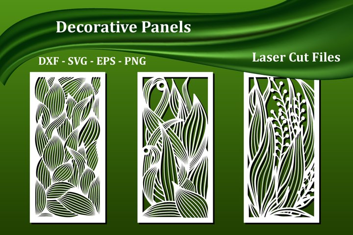 Decorative wall panels, svg & dxf files for cnc laser cut,