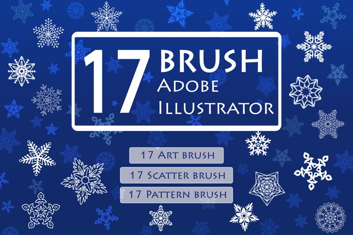 Snowflake Brushes for Adobe Illustrator