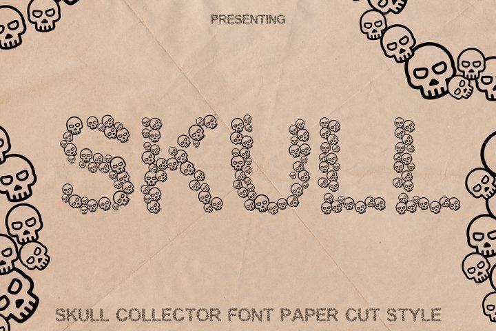 Skulls Font - Fun Craft Font Paper Cut Style
