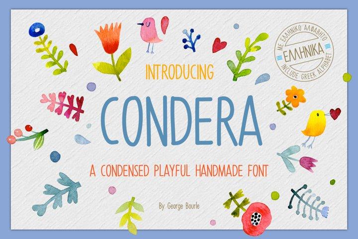 CONDERA CONDENSED HANDMADE FONT