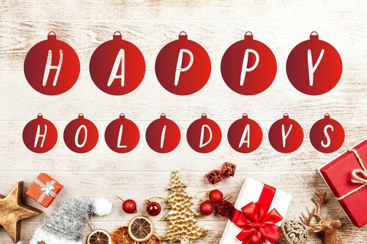Christmas Bubbles Font