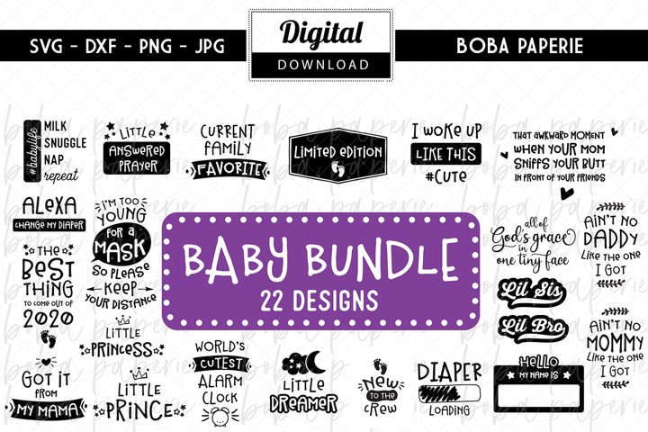 Baby SVG Bundle -22 Designs