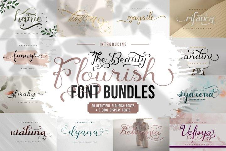 The Beauty Flourish Font Bundles - Only $12
