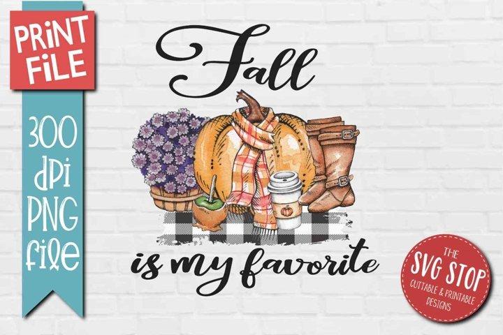 Fall Sublimation Design Autumn Pumpkin