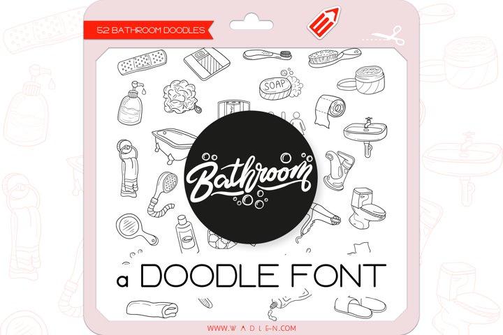 Bathroom Doodles - Dingbats Font