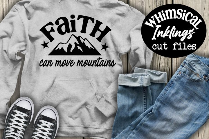 Faith Can Move Mountains SVG