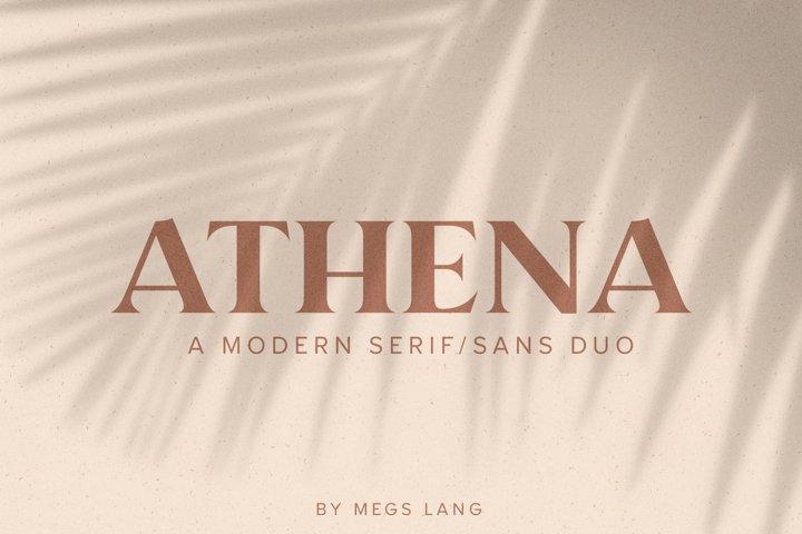 Athena // A Modern Serif & Sans Serif Font Duo