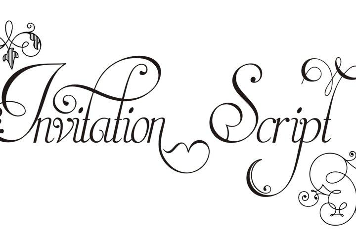 Invitation Script Pack (4 fonts)