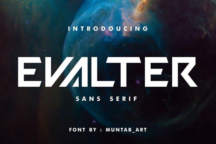 Evalter | Modern Font