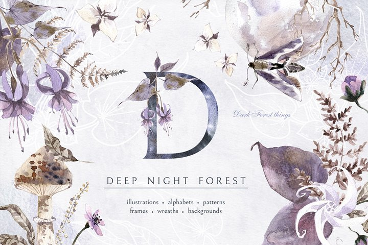 Deep Night Forest graphic kit.