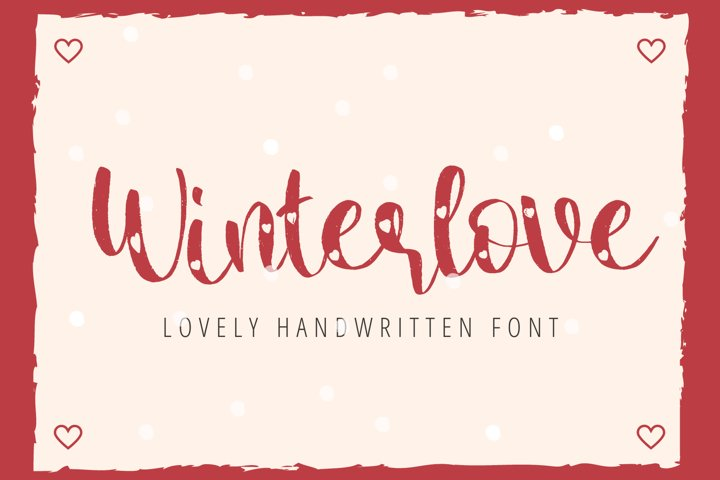 Winter Love - Lovely Handwritten Font For Your Crafting