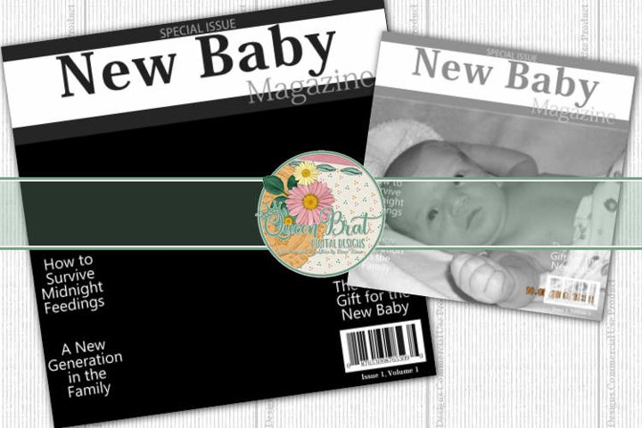 Magazine Cover New Baby