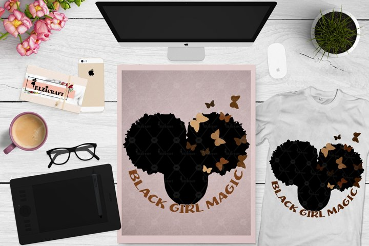 Black Girl Magic SVG, Love Melanin SVG, Melanin Poppin SVG
