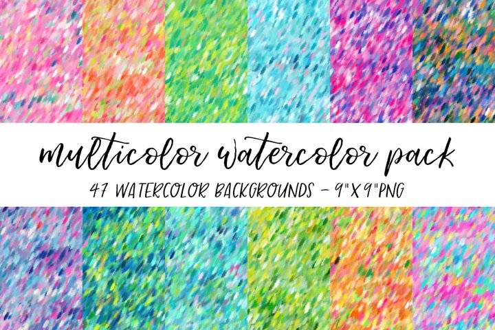 Multicolor Watercolor Backgrounds