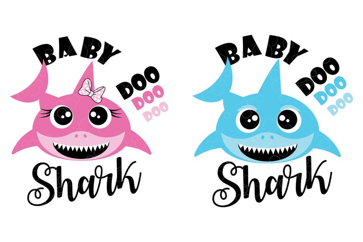 Baby Shark doo doo doo SVG cut file for girl or boy
