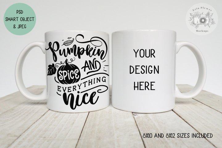 Mug Mockup | Front Back Mug Mock-up Smart Object