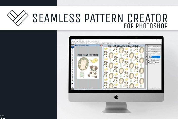 Seamless Pattern Creator Template   PSD File   V1
