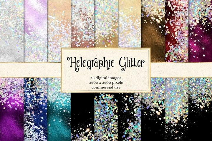 Holographic Glitter Digital Paper