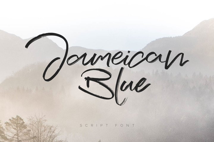Jameican Blue Script Font