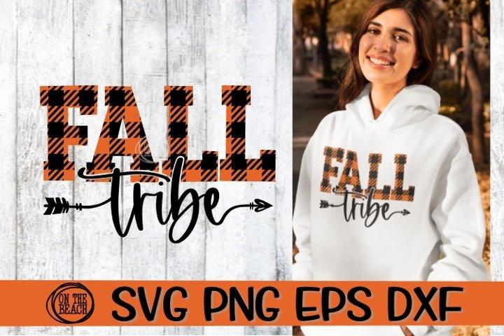 FALL SVG - FALL Tribe - Buffalo Plaid - SVG DXG PNG EPS