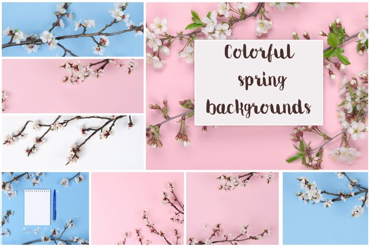 8 Colorful spring backgrounds