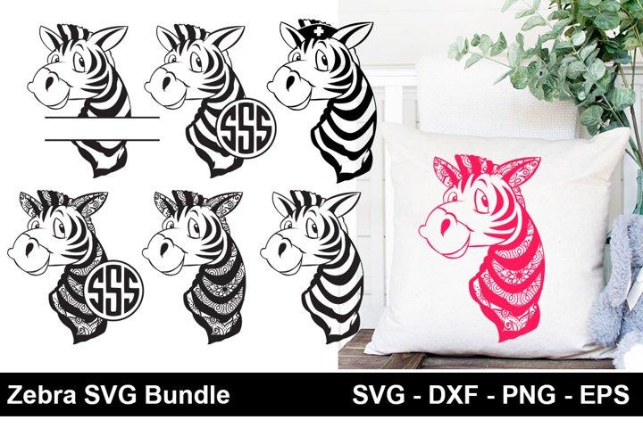 Zebra SVG Bundle,Zebra monogram SVG