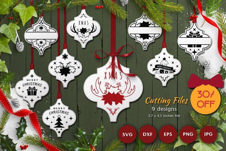 Christmas Arabesque SVG Bundle | Laser Cutting | Cricut