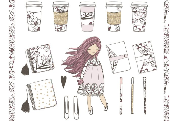 Planner Girl Clipart - Free Design of The Week Design0