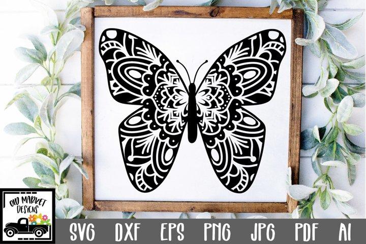 Butterfly Mandala SVG Cut File
