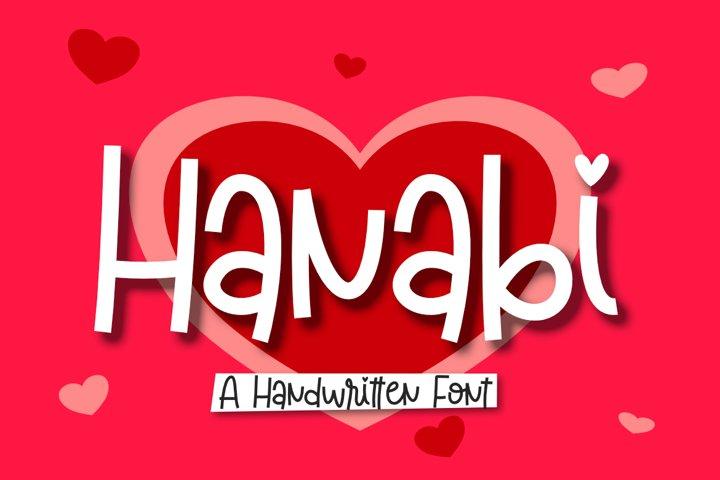 Hanabi | A Handwritten Font