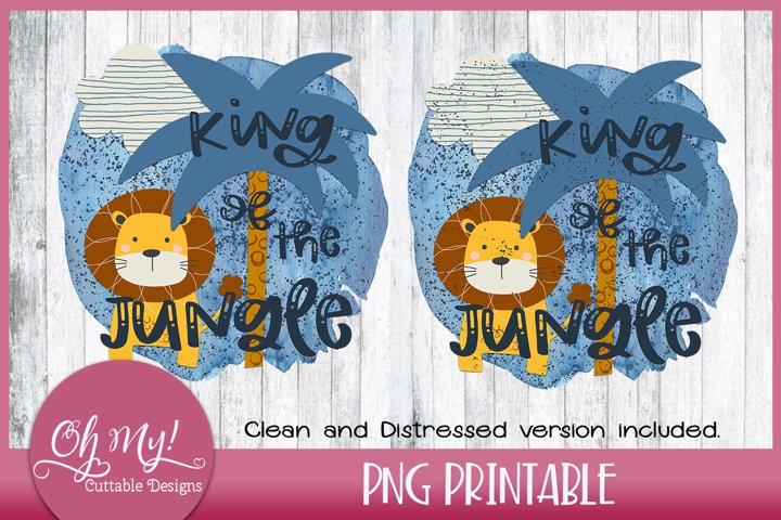King Of The Jungle Sublimation Printable