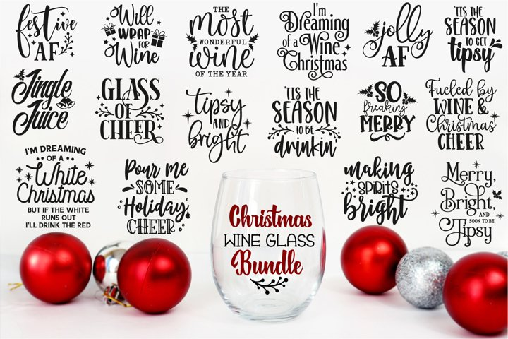 Christmas Wine Bundle, Wine Svg Bundle, Christmas Quotes