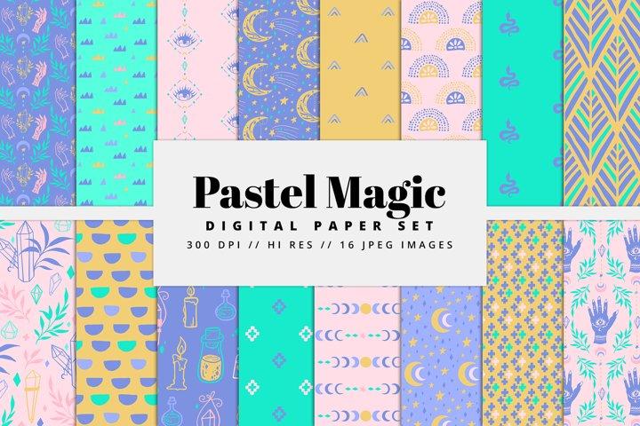 Pastel Magic Digital Paper Set