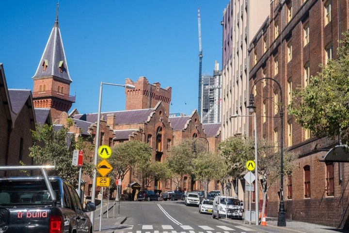 Pathway to the MCA. The Rocks. Sydney. Australia.