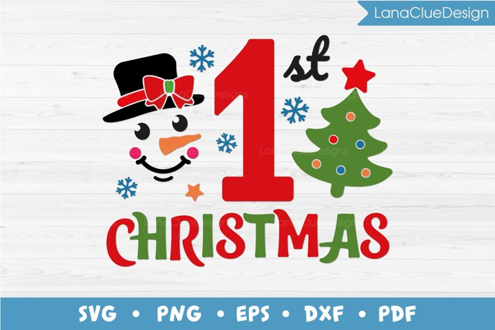 First Christmas SVG PNG DXF EPS PDF, 1st Christmas