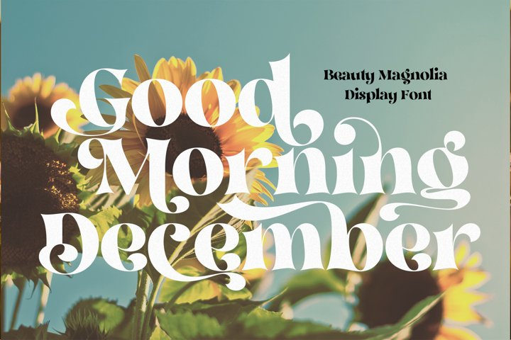 Beauty Magnolia - Display Font - Free Font Of The Week Design4