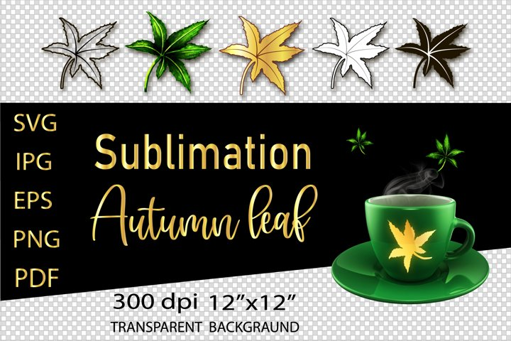 Fall Leaves SVG, Cut Leaves Bundle.Sublimation