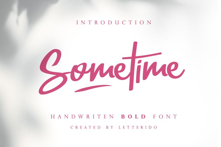 Sometime Handwritten Bold Font