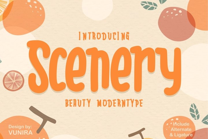 Scenery | Beauty Moderntype
