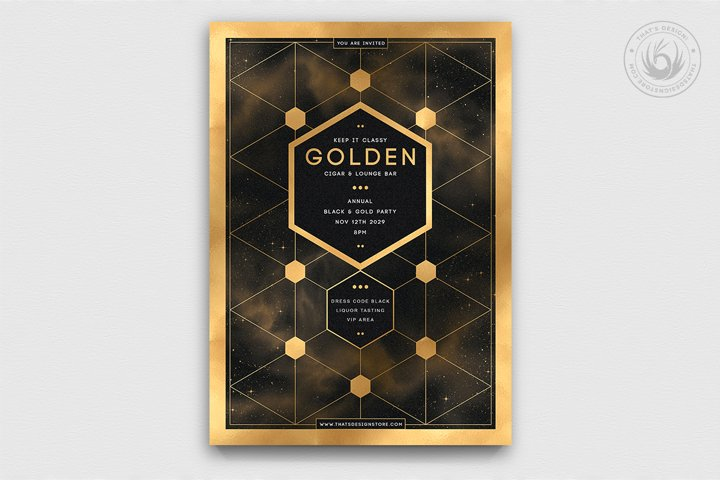 Black and Gold Flyer Template V21