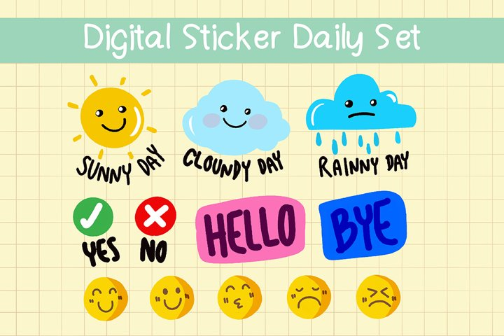 DIGITAL STICKERS Set for Daily