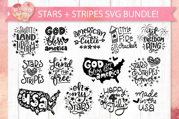 Stars and Stripes SVG Bundle, 13 4th of July SVG Files, USA