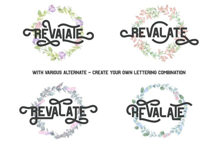 Revalate - Stylistic Sans Serif example 1